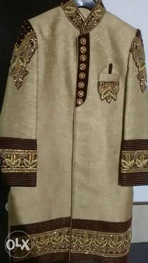 Men Indo western sherwani only 1 time used