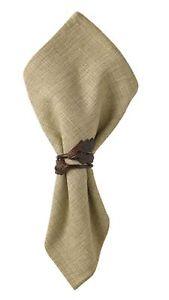 Napkin Ring Set of 2 - Acorn Leaf by Park Designs - Brown