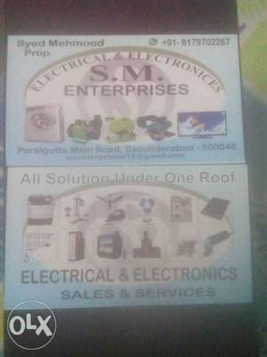 Two Electrical And Electronics Cards