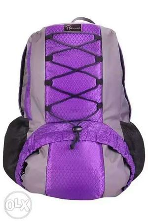 Purple, Black, And Gray Backpack Collage
