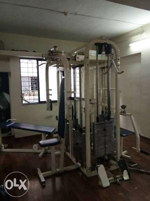 All Gym set up for sale. machines, weights,