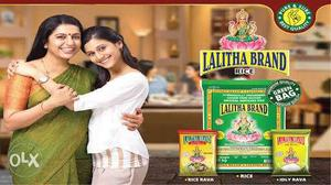 All types of lalitha brand rice and basmathi