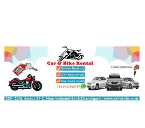 Car and Bike rental service in Chandigarh.