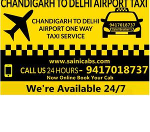 One Way Taxi service Delhi to Chandigarh Call- New