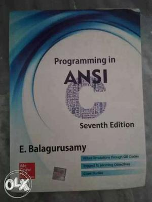 Programming In Ansi Book By E. Balagurasamy