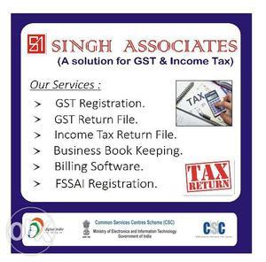 Return File-ITR File**Insurance**GST Monthly Return**Singh