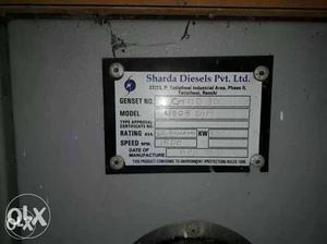 Sharda Diesels Pvt. Ltd. Sticker