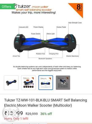 Tukzer Smart Balancing Wheel tukzer moon walker