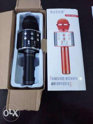 Black Wster Wireless Microphone With Speaker Box