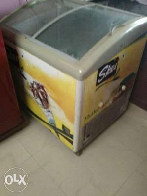 Double door freezer. for sale. less used
