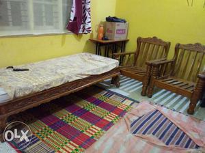 L shaped teak wood sofa cum deewan posot class for Old diwan bed