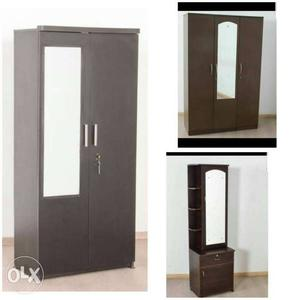 New wood 5.5 ft 2 door wardrobe  new 3 door wardrobe