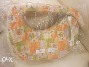 Orange And Beige Inflatable Nursing Pillow