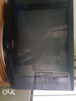 Black Samsung Widescreen TV