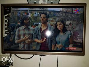 Gray LG Flat Screen TV