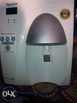 White Aquasure Water Purifier 8 liters