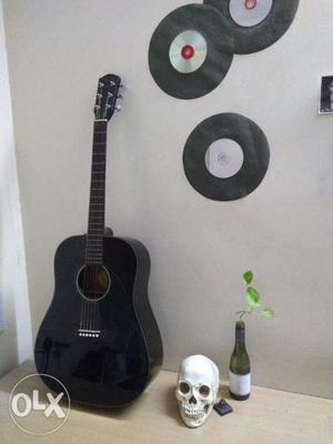 Fender Dg-60 Bk DS V2 Dreadnought Acoustic Guitar (Gloss