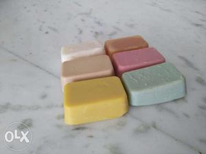 Home made various essential oil mixed soaps