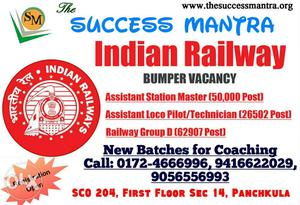 Railway Assistant Loco Pilot, Technician and