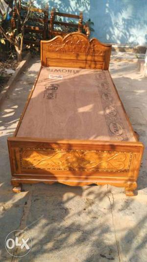 New Indian teakwood 2 beds. Size 6.25 feet/ 3