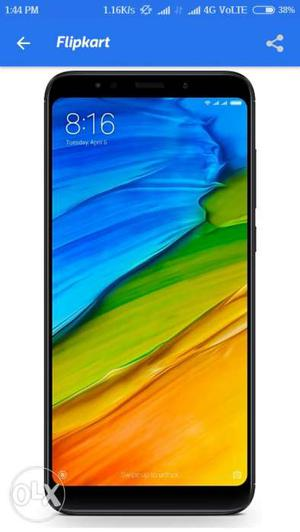 Redmi note 5 in gold and black colors both. 3gb