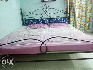 Wrought Iron King Size Double Bed With Matress