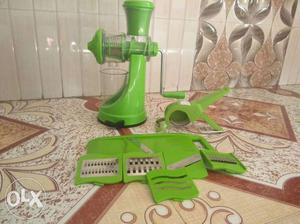 Branded juicer with slicer and cutter Slicer