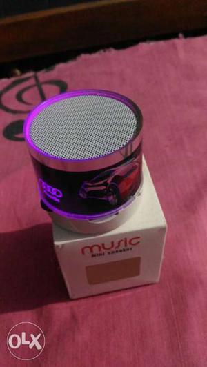 Round Purple And Black Bluetooth Speaker With Box new