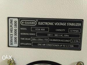 V-Guard Electronic Voltage Stabilizer triple boost