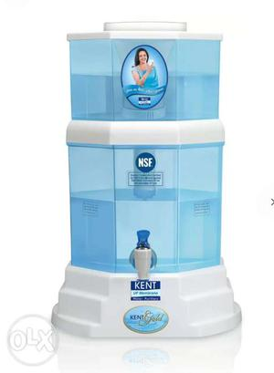 White And Blue Kent Water Dispenser