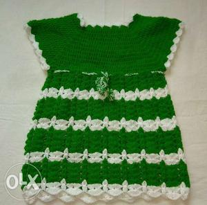 Crochet woolen handmade frock for kids age 1 to 2 years old