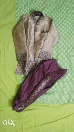 Sherwani used once r twice..fits up to 4 years..