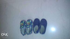 Toddler's Two Pairs Of Blue Shoes