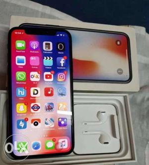 IPhone X 20 days old with Indian bill box...