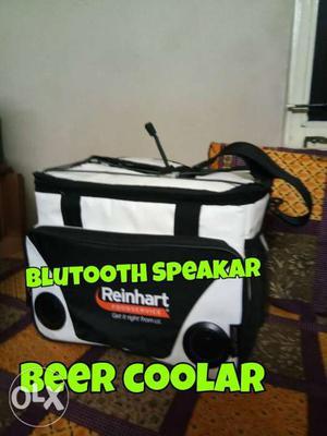 Black And White Reinhart Bluetooth Speaker