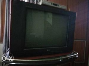 Black LG Widescreen CRT Television