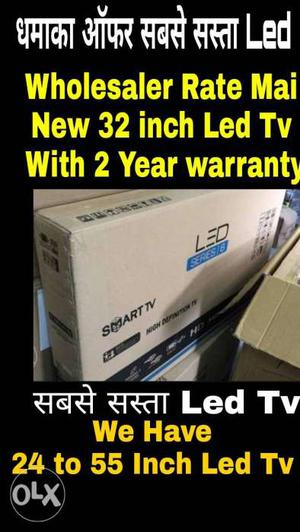 New 32 inch Led TV With 2 Year Warranty And Seal Pack