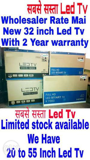 New 32 inch Seal Pack imported Led Tv With 2 year warranty &