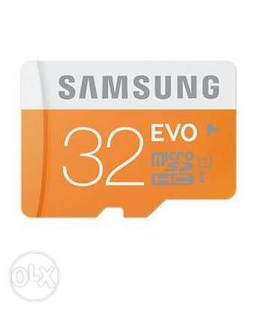 Samsung Evo 32 GB memory card