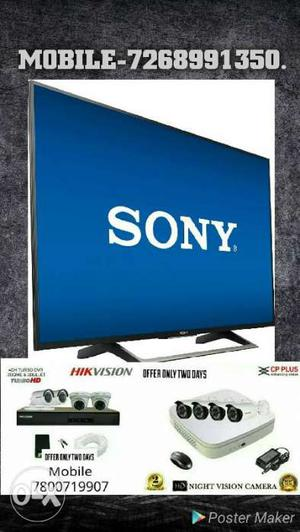 Sony Led Tv 2hd Cp Plus Cctv Camera Complete System