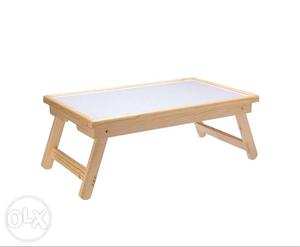 Rectangular White And Brown Wooden Table