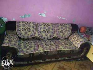 Sofa full set 2 small 1 Big with cover good condition
