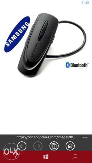 Black Samsung Bluetooth Earpiece Screenshot