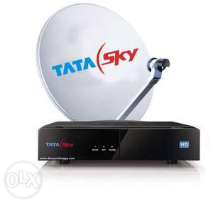 Tata sky set top box 2 box 2 card 3 remote 1 dish