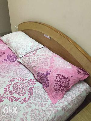 Queen size double bed with mattress and side