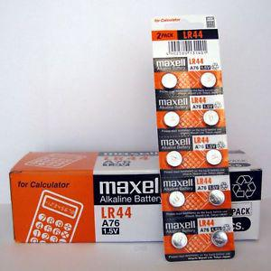 10 NEW Batteries Authentic LR44 MAXELL A76 L AG