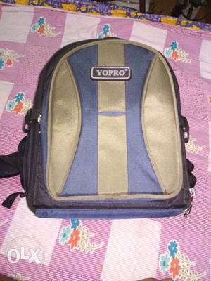 Blue, Black, And Gray Backpack