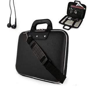 JET BLACK Cady Messenger Leather Bag Case fits Apple MacBook