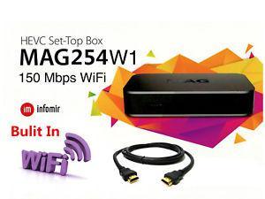 MAG 254w1 W1 IPTV OTT Set Top Box Internet TV STB w/150