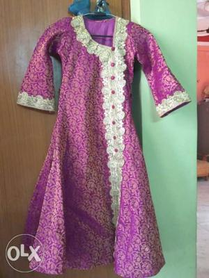 Party wear kids gown for sale in silk